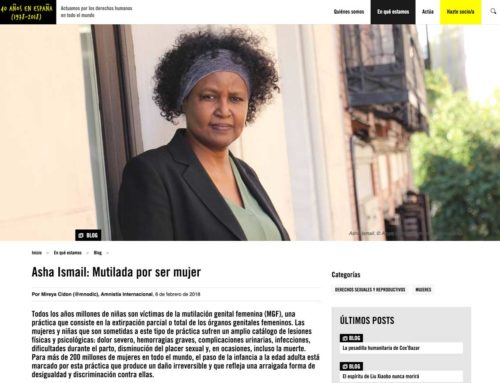 Asha Ismail: Mutilada por ser mujer | Amnistía Internacional (6/2/2018)