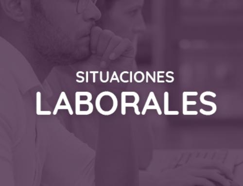 Información sobre situaciones laborales